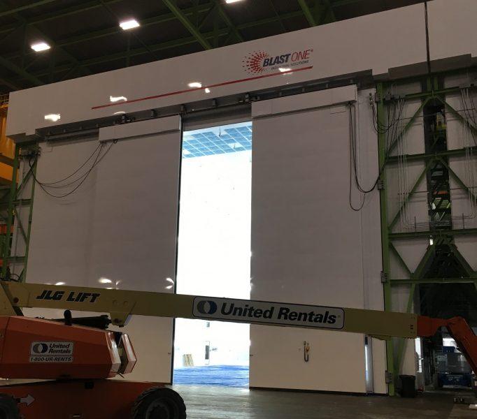 Custom Sliding Doors Being Installed