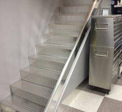 Custom Aluminum Stairway